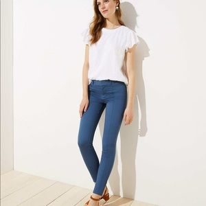 Loft Skinny Pintuck Sateen Pants
